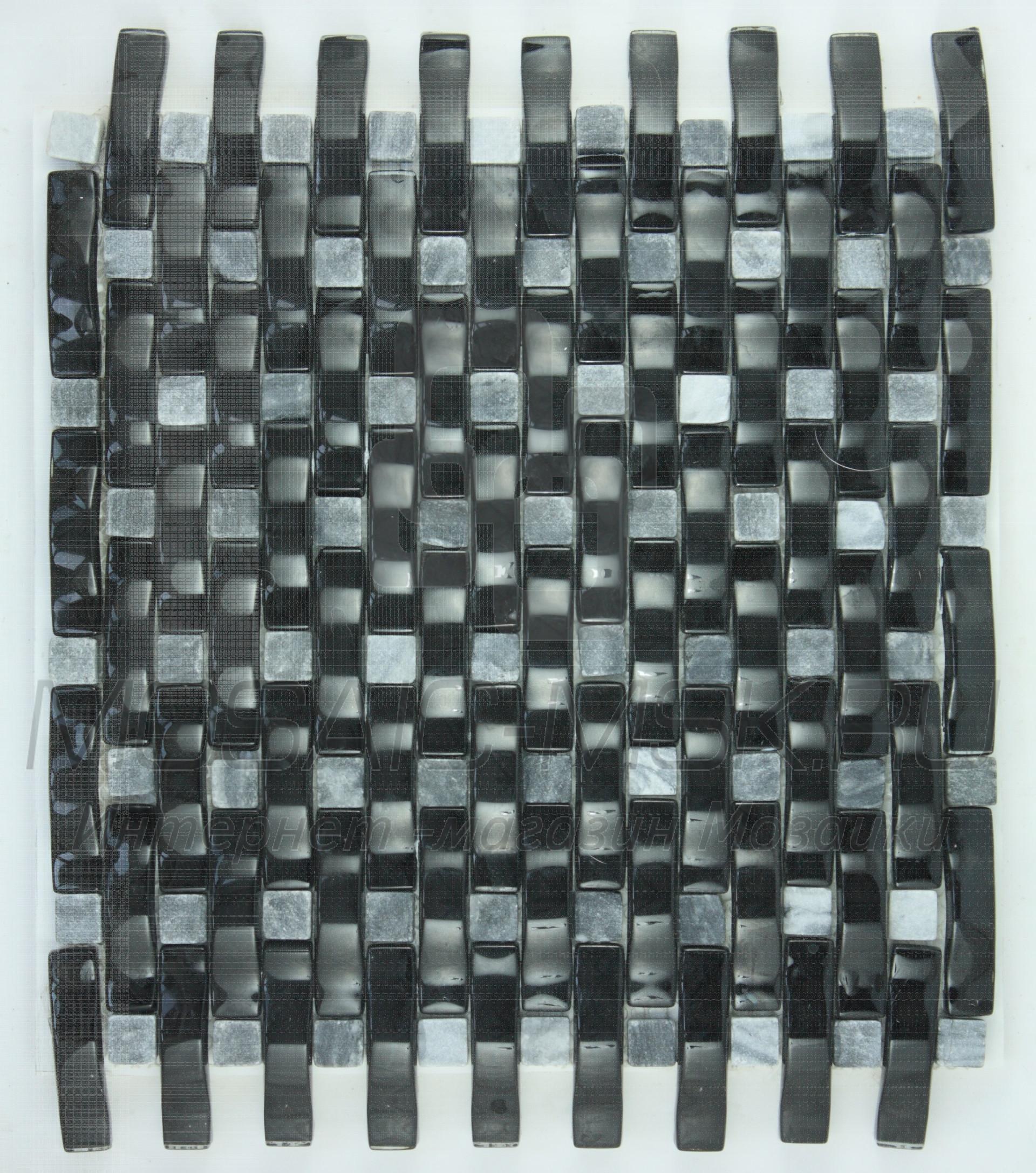Мозаика стеклянная FJK-B 005 Рогожка  (8*20*280*325)