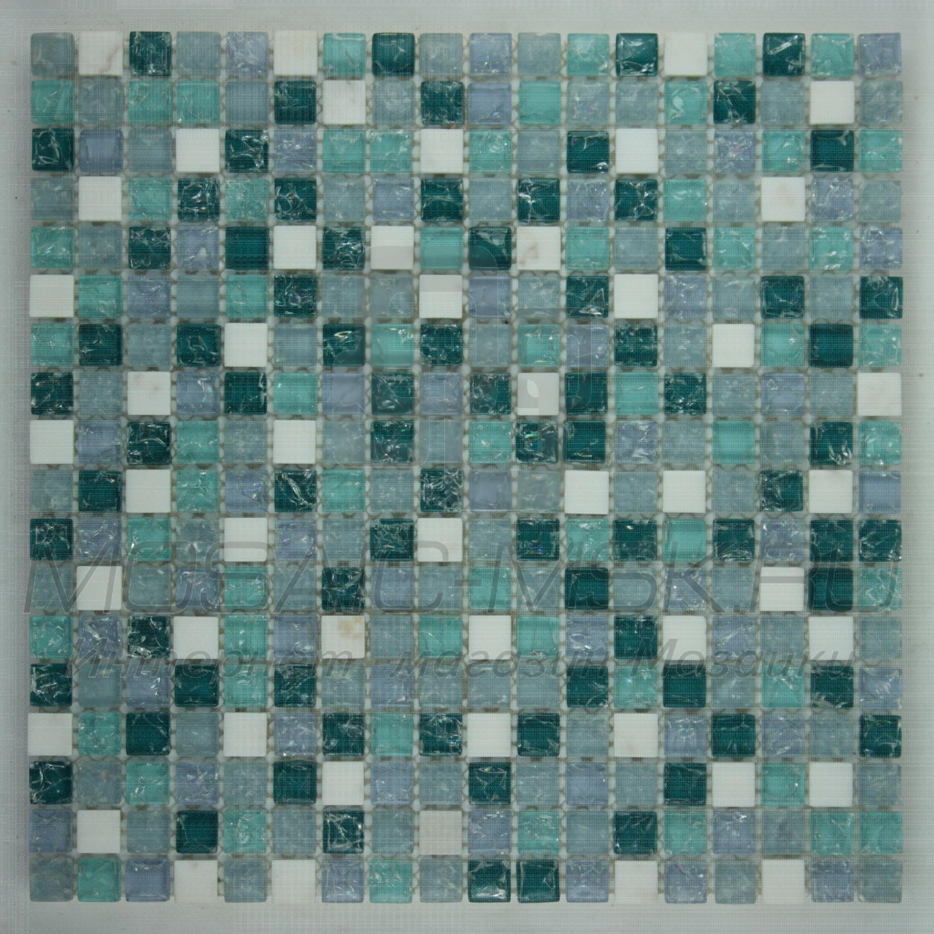 Мозаика стеклянная   DGS095B  (6*15*300)