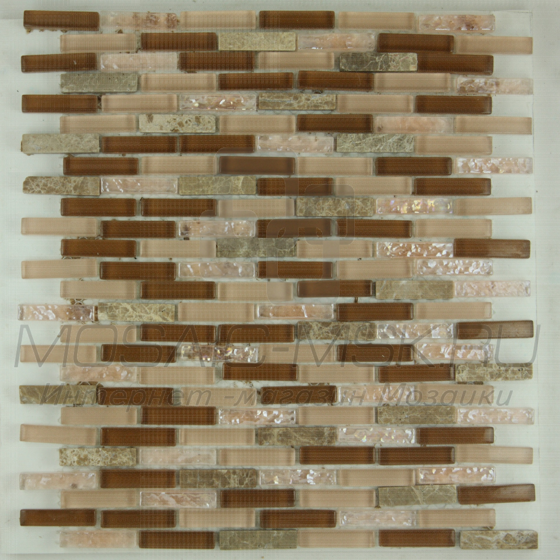 Мозаика стеклянная-каменная BGH 003 (8*260*290)