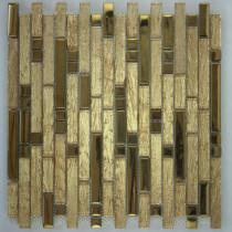 Мозаика стеклянная-каменная KBK 060  (15*96*7*304)
