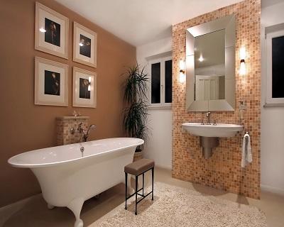 Образец оформления ванной комнаты Мозаики.